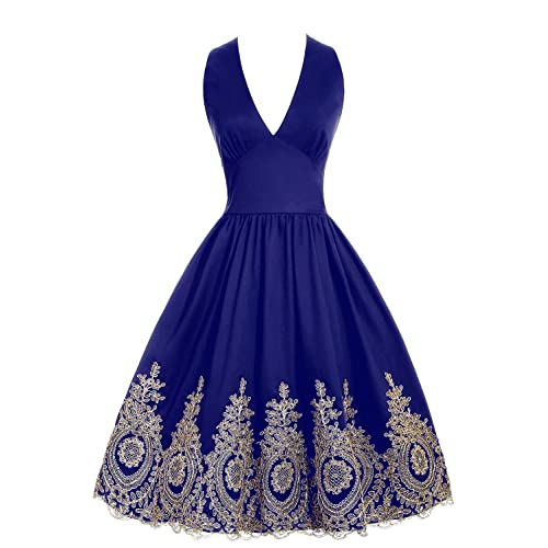 Royal Purple and Gold Dresses