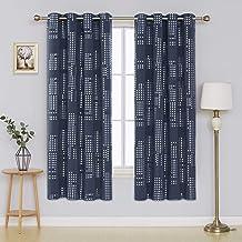 ستائر معتمة لغرفة النوم من ديكونوفو، ستائر معزولة حراريًا ومعزولة بعروة نافذة غرفة النوم، 132 × 182 سم، أزرق داكن