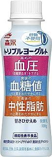 [冷蔵] 森永乳業 トリプルヨーグルト砂糖不使用 ドリンクタイプ 100g