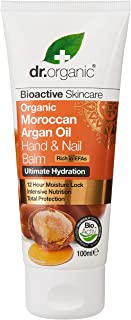 Dr. Organic Moroccan Argan Oil for Hand and Nail Balm - 100 ml, Pack of 1