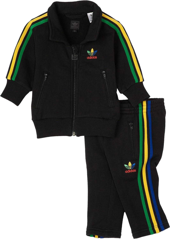 Adidas Firebird Tracksuit Grun, Black