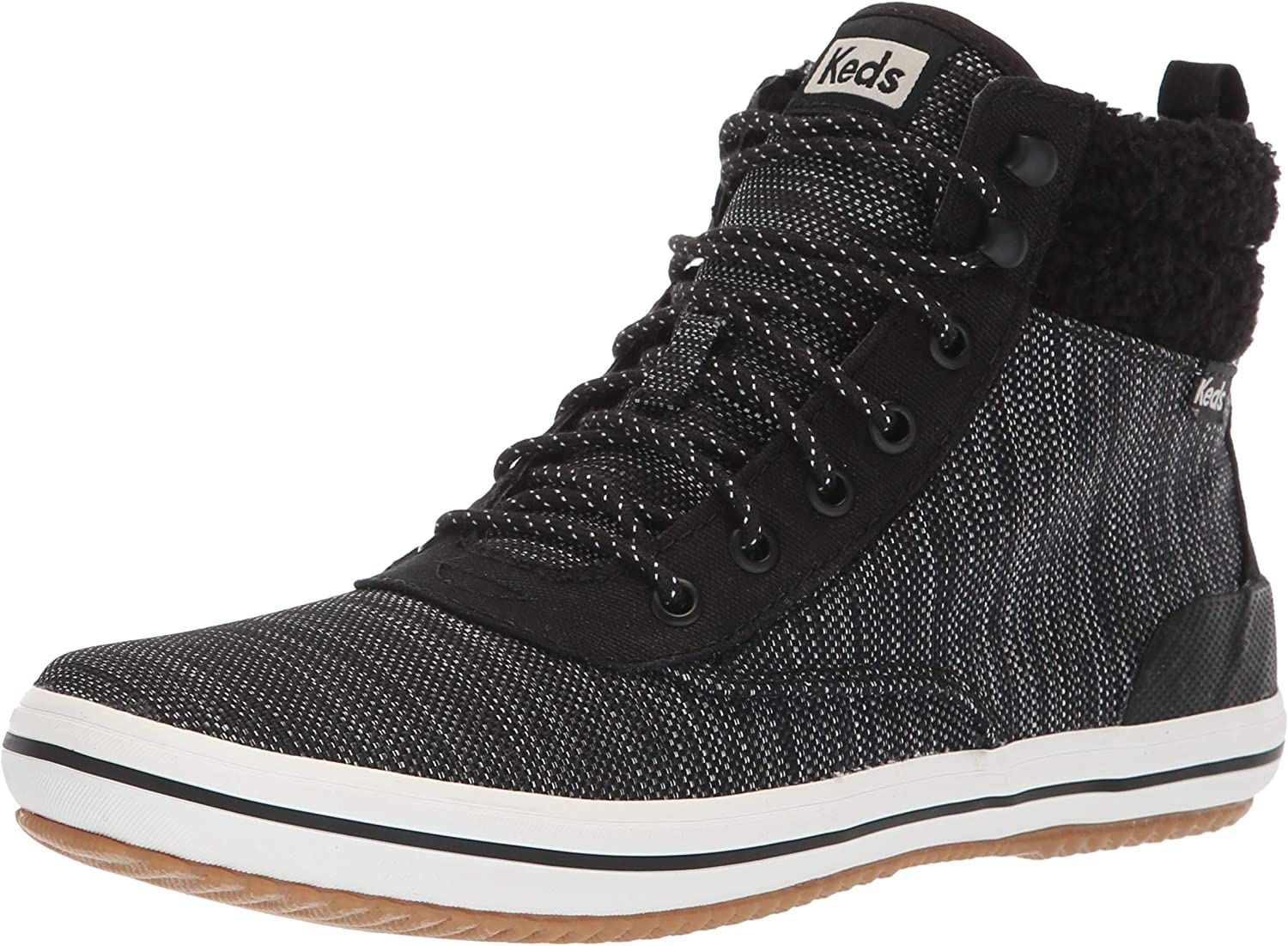 Keds Womens Scout Boot Heathered Nylon Wx Sneaker