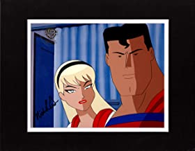 Superman The Animated Series Production Animation Cel With Supergirl and Batman - DC Warner Brothers 2000 SIGNED by Nicholle Tom