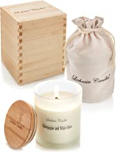 Lochrain Candles   Large Scented Candle - Champagne and White Rose   100% Pure Soy Wax   Scented Candles All Naturals   Ec...