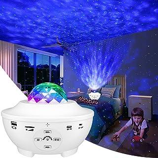 LBELL 「2021最新版&リモコン式」 スタープロジェクターライト ベッドサイドランプ 投影ランプ プラネタリウム Bluetooth/USBメモリに対応 星空ライト 10種点灯モード タイマー機能付き 音声制御 輝度/音量調整可 ロマンチ...