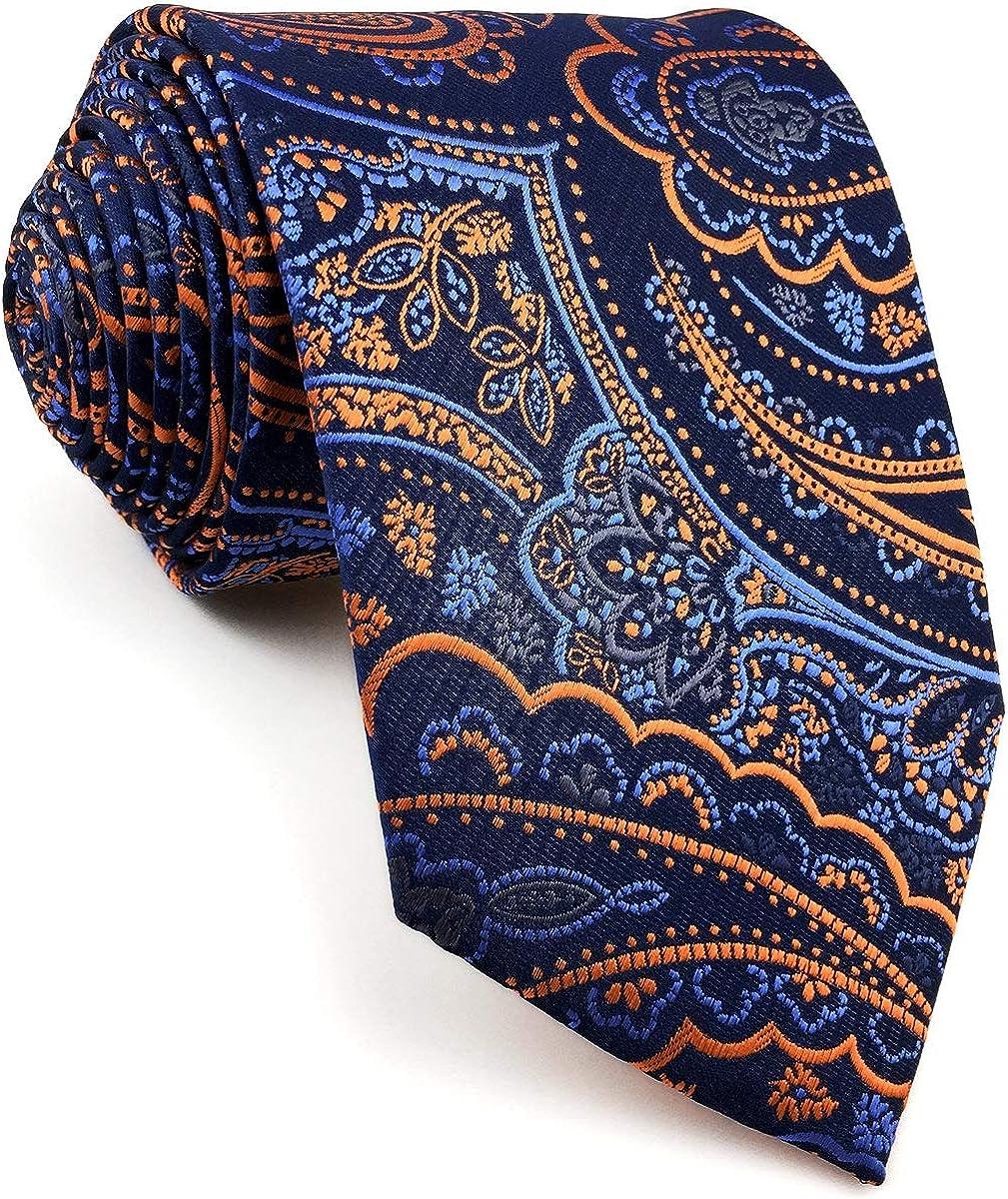 Now on sale SW SHLAXWING Men's Ties Neckties Navy Paisley Dark Louisville-Jefferson County Mall Blue