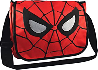 Silver Buffalo MC7001 Marvel Spider-Man Eyes 15-Inch by 12-Inch Messenger Bag, Multi-Color