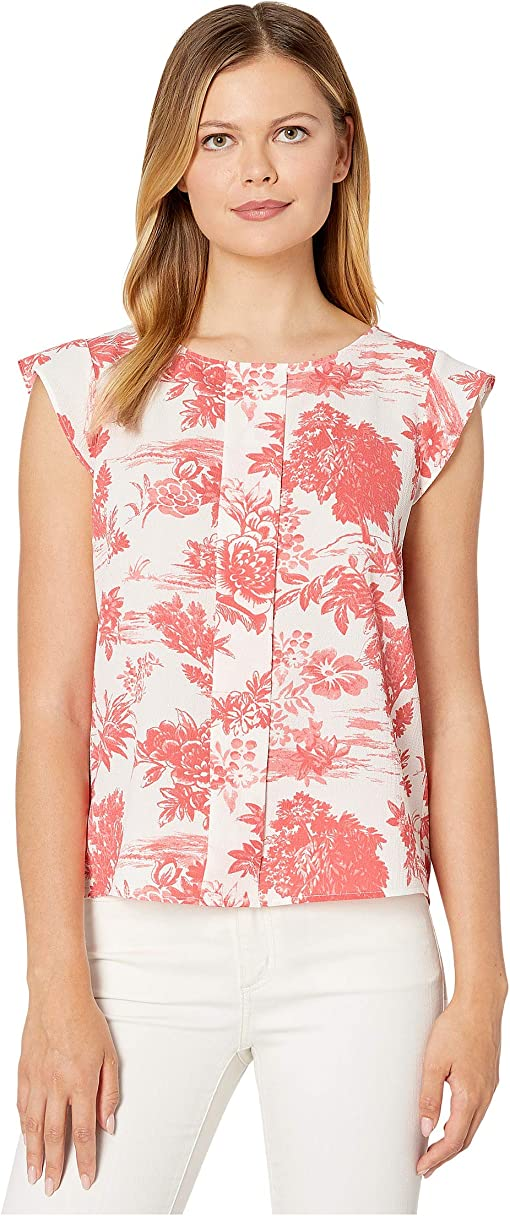 Country Toile Coral