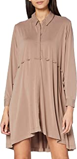French Connection Women's RENYA CUPRO JERSEY LS SHIRT DR Casual Dress