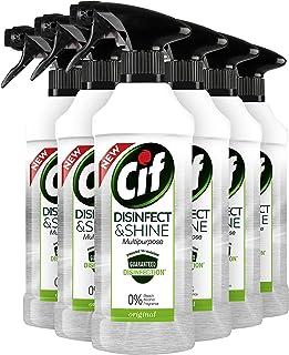 CIF Disinfect & Shine Schoonmaakspray Original - Desinfectie Spray, doodt 99,99% van de bacteriën - 6 x 500ML - Voordeelve...