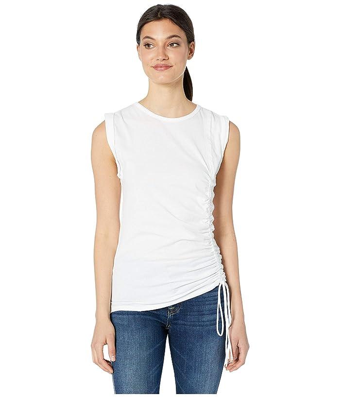 Majestic Filatures Cotton/Elastane Sleeveless Tank Top (Blanc) Women