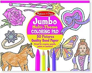 Melissa & Doug Jumbo Pink Coloring Pad