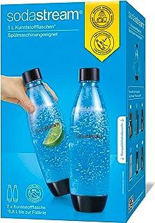 Sodastream 3000241 2 BOUTEILLES 1L FUSE LAVE VAISSELLE, « Plastique » pour Pet, Transparent, 17,4 x 8,6 x 28,1 cm