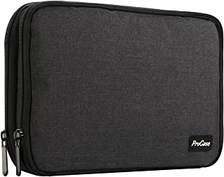 Procase Travel Gadget Organizer Bag, Portable Tech Gear Electronics Accessories Storage Carrying Case Pouch For Cords USb Cables Sd Cards Mp3 Player Charger Hard Drive Power Bank -Black