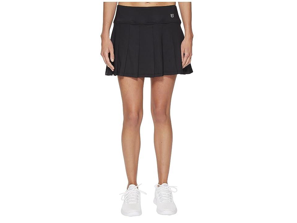 Eleven by Venus Williams Core 14 Flutter Skirt (Black) Women