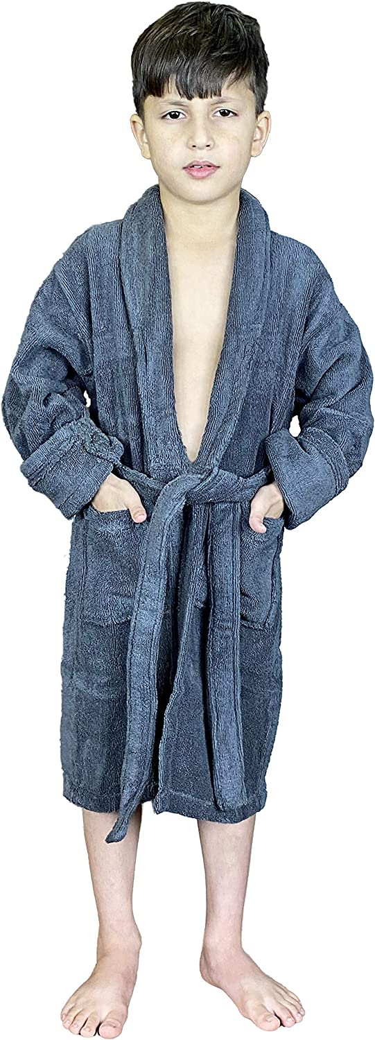 Terry New York Mall Cotton free Bathrobe for Girls and Toddler Boys Spa Shawl Robes