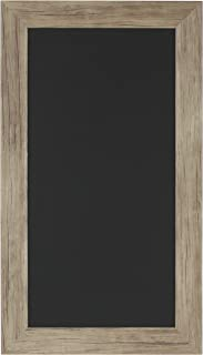 DesignOvation Beatrice Wall Mounted Framed Magnetic Chalkboard, 13x23, Rustic Brown