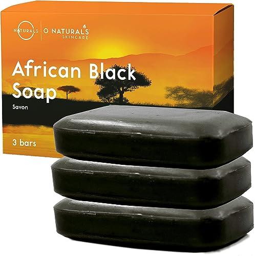 Jabón Africano Natural Negro Facial Cuerpo y Manos Limpieza Exfoliante Vegano Detox Para Acné Psoriasis Eccema Minimi...
