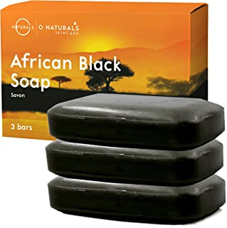 O Naturals African Black Soap Acne Problematic Skin Bar Organic Ingredients Luxurious Texture Triple Milled Bar Soap Moist...