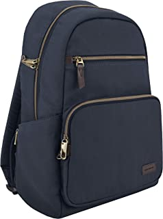 Travelon Anti-Theft Courier Slim Backpack, Navy, 14 x 17 x 3