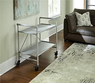 Cosco Outdoor Living Indoor/Outdoor Folding Serving Cart, Silver
