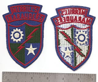 Embroidered Patch - Patches for Women Man - #003 US Army MERRILL'S Marauders
