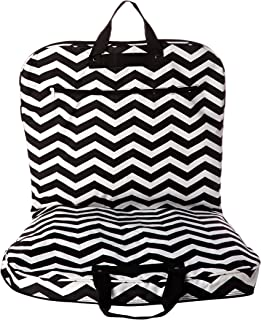 World Traveler 40 Inch Hanging Garment Bag, Black White Chevron, One Size