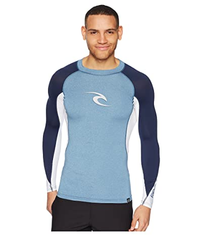 Rip Curl Wave UV Tee Long Sleeve (Light Grey) Men