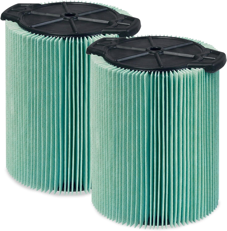 WORKSHOP Wet Dry Vacuum Filters WS23200F2 HEPA Media Filter For Shop Vacuum Cleaner (2-Pack - HEPA Media Filter For Wet Dry Vacuum Cleaner) Fits WORKSHOP 5-Gallon to 16-Gallon Shop Vacuum Cleaners