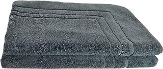 Egyptian Cotton Towels 2 or 4 Piece Bath Mats, 55x80cm, 900GSM, Value Packs (2 Bath Mats, Charcoal)