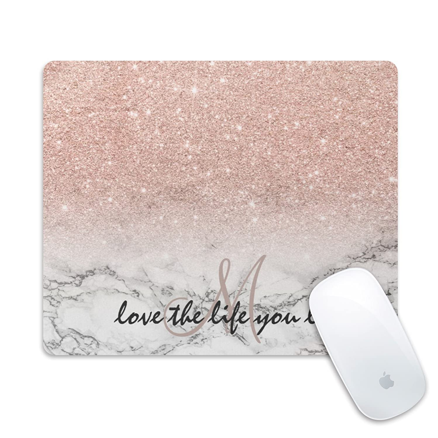Professional Gaming Mouse Pad, Personalized Durable Non Slip Mouse Mat, Computer Desk Stationery Accessories Mouse Pads for Gift - Gold Rose