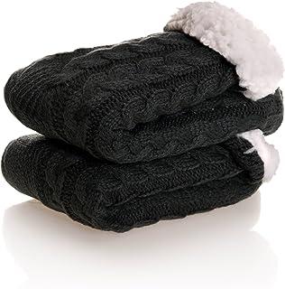 SDBING Women's Super Soft Warm Cozy Fuzzy Fleece-Lined Winter Knee Highs Slipper Socks