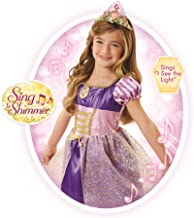 """Disney Princess Rapunzel Dress Costume, Sing & Shimmer Musical Sparkling Dress, Sing-A-Long to """"I See The Light"""" Perfect for Party, Halloween Or Pretend Play Dress Up [Amazon Exclusive]"""