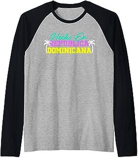 HECHO EN REPUBLICA DOMINICANA Shirt | Dominican Republic Raglan Baseball Tee