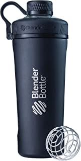 BlenderBottle Radian Shaker Cup Insulated Stainless Steel Water Bottle with Wire Whisk,..