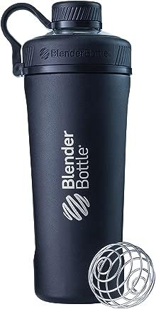 Blender Bottle Radian Insulated Stainless Steel Shaker Bottle, Matte Black, 26-Ounce
