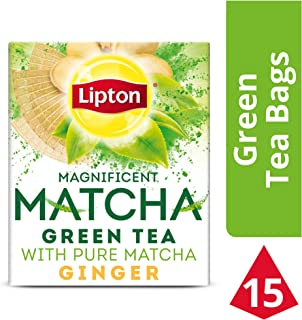 Lipton Magnificent Matcha Green Tea Bags, Ginger 15 ct