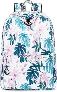 Floral Backpack Ink Painting School Bookbags Girls College Bag