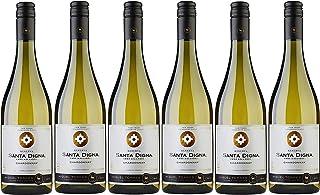 Santa Digna Chardonnay, Vino Blanco - 6 botellas de 75 cl, Total: 4500 ml