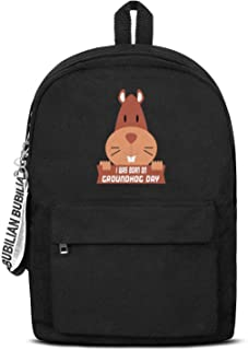 I Was Born On Groundhog Day Laptop Backpack Fashion Water Resistant Canvas Rucksack College Student For Men Women And Kids