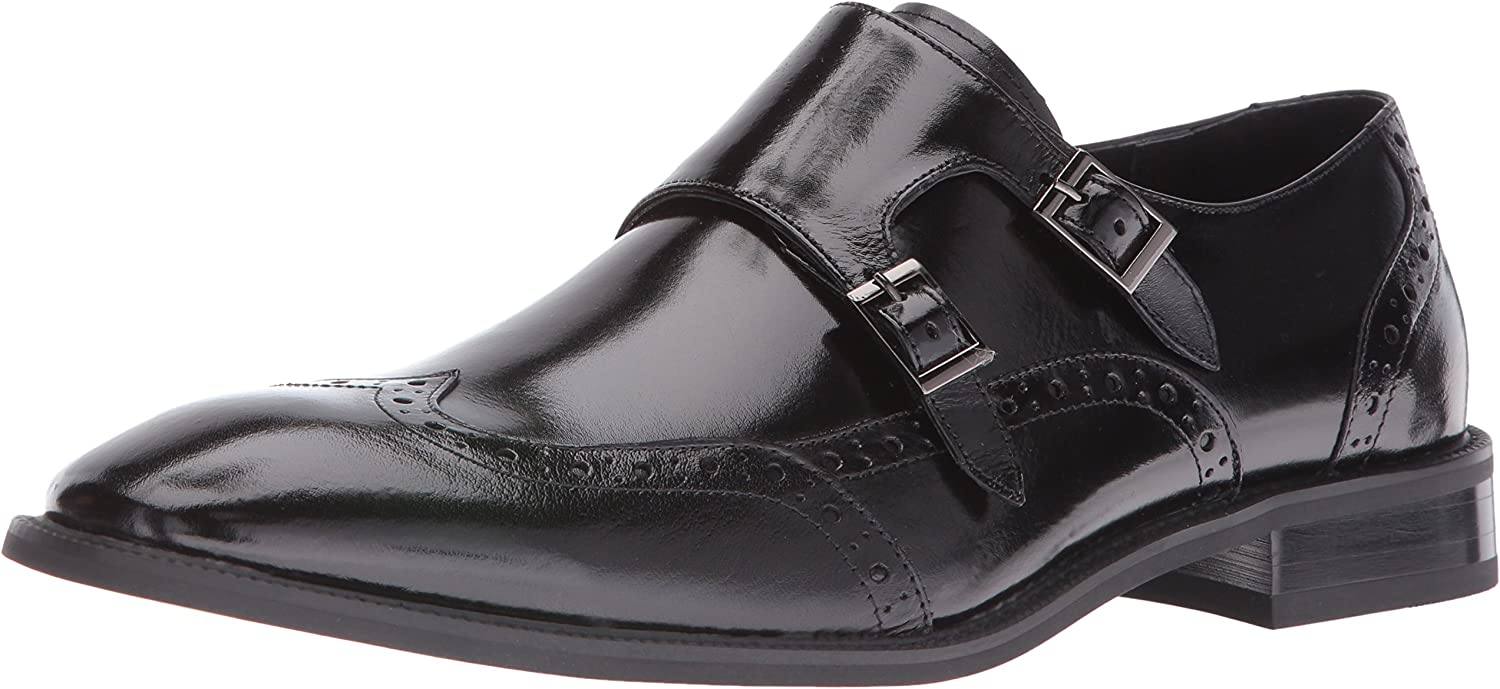 Stacy Adams Mens Brewster Double Monk Strap Wingtip Brewster Double Monk Strap Wingtip