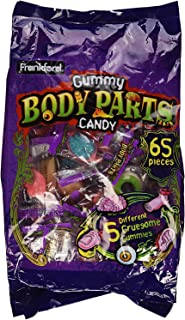 Frankford Gummy Body Parts Candy 60 Pieces Halloween Individually Wrapped (2-Pack)