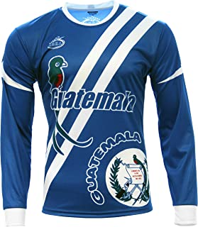 Men's Guatemala Jersey Long Sleeve Blue Arza Design