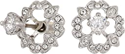 Sparkling Dance Flower Pierced Earrings