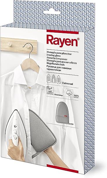 Rayen 6186 Manopla para planchar, Algodón, Gris