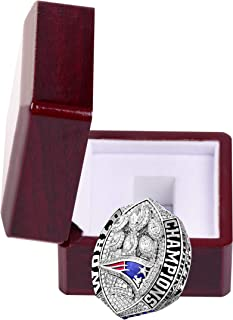 MT-Sports New England Patriots 2019 Championship Ring Official Football Super Bowl Collectible Gift Champion Rings with Display Case
