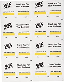 Wix (WI1516 Oil Change Decal
