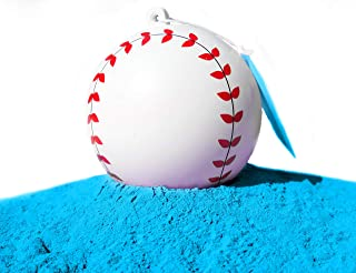 J&M Gender Reveal Baseball for Baby Showers and Reveal Parties - 100% All Natural Holi Powder (Blue)