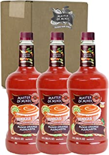 Master of Mixes Blood Orange Margarita Drink Mix, Ready to Use, 1.75 Liter Bottle (59.2 Fl Oz), Pack of 3