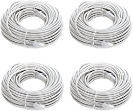 Lknewtrend (4) 100FT Feet Cat6 Ethernet Patch Cable - UTP 550Mhz RJ45 Network Internet Wire Cord for Computer, PoE Camera, Router, Modem, Switch (4 Pack, 100 FT)